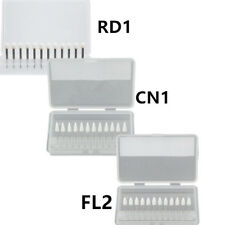 12x Dental White Stone Porcelain Aluminum Oxide Polishing Bur Coneflameround