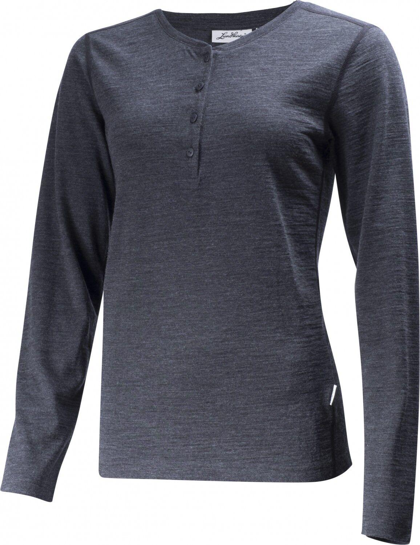 Lundhags Merino Light Ws Henley LS Outdoorshirt (grau-melange)  | Elegantes Aussehen