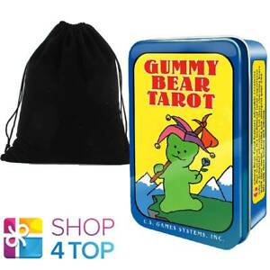 GUMMY-BEAR-TAROT-CARDS-DECK-DIETMAR-BITTRICH-US-GAMES-SYSTEMS-WITH-VELVET-BAG