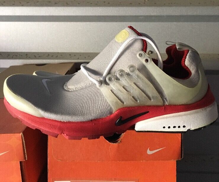 Nike Air Presto 2018 DS Neutral Grey Varsity Red 302742-014 New With Box