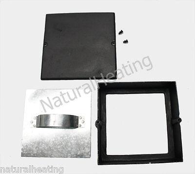 Soot Door Box 9 x 9 Black Cast Iron - SPECIAL ORDER Womakk14