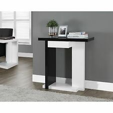 Hall Console Table Foyer Entry Modern Accent Furniture Sofa End Black White