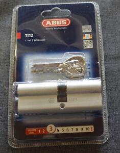Abus-Profilzylinder-TITALIUM-TI12-40-45mm-NEU-OVP-Tuerzylinder-3-Schluessel