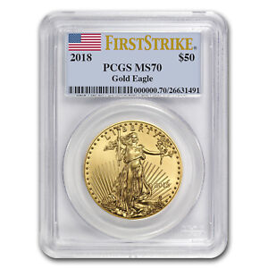2018 1 oz Gold American Eagle MS-70 PCGS (First Strike) - SKU#153148