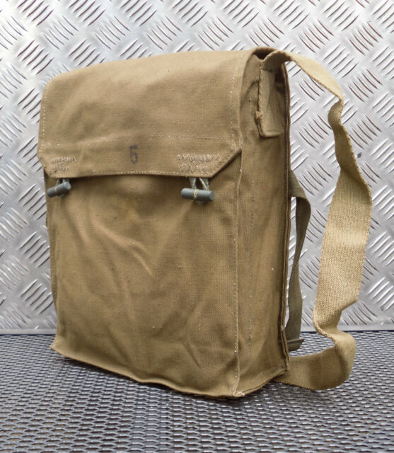 Genuine Army / Military Gas Bag. Vintage Shoulder / Side / Messenger Bag