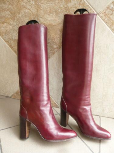Heel T 1982 39 Boton Jocelyn Vintage Paris Boots bordeaux qR4wcvF