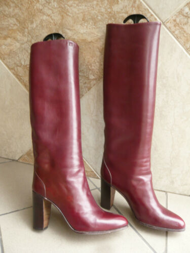 "Stiefel Vintage 1982 "" Bordeaux "" - Absatz Stiefelhersteller - Jocelyn Paris"