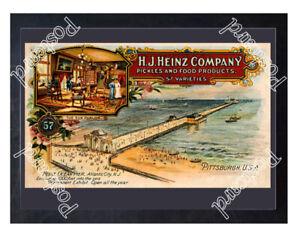 Historic-H-J-Heinz-Company-039-s-Ocean-Pier-in-Atlantic-City-Advertising-Postcard