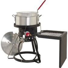 Outdoor Deep Fryer Set Gas Stove Propane Stand w/ Pot Basket Fish Fryer