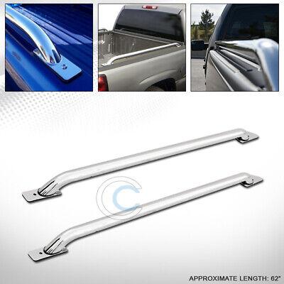 Pair of Stainless Steel Chrome Truck Side Bar Rail For Silverado//Sierra 5.5ft Short Bed Cab