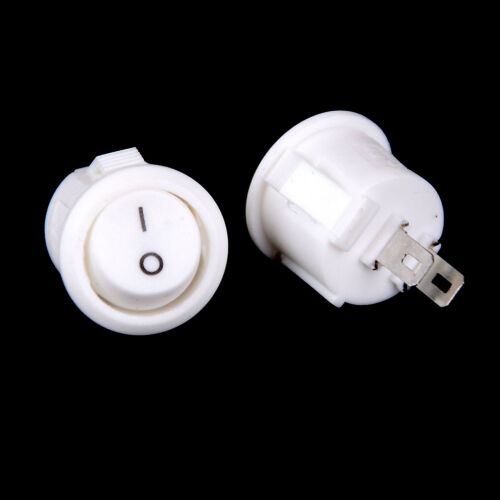 10x 16mm White Round Boat Rocker Switches Mini 2Pin ON-OFF Switches 3A//250V-ZP