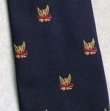 GOLD CREST TIE VINTAGE RETRO CLUB ASSOCIATION SOCIETY LOGO NAVY 1980s BY MUNDAY