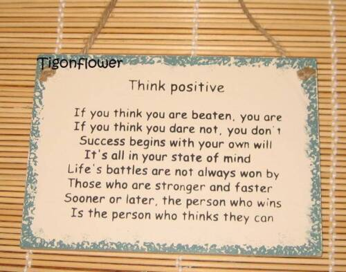 Wood Sign Words Think Positive Encouragement Buy 2 get 1 free