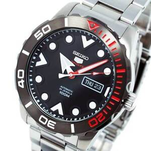 New-SEIKO-5-SPORTS-AUTO-STAINLESS-STEEL-DIVERS-STYLE-BLACK-FACE-SRPA07J1