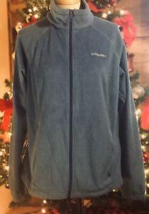 COLUMBIA-Women-039-s-XL-Benton-Spring-Full-Zip-Light-Blue-Fleece-WL6439