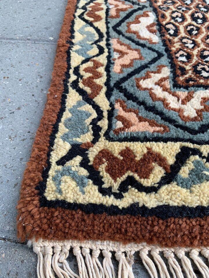 Gulvtæppe, ægte tæppe, b: 80 l: 144