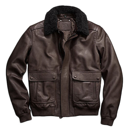 Coach Men's Bleecker 100 Leather Aviator Jacket Coat 84100 ...