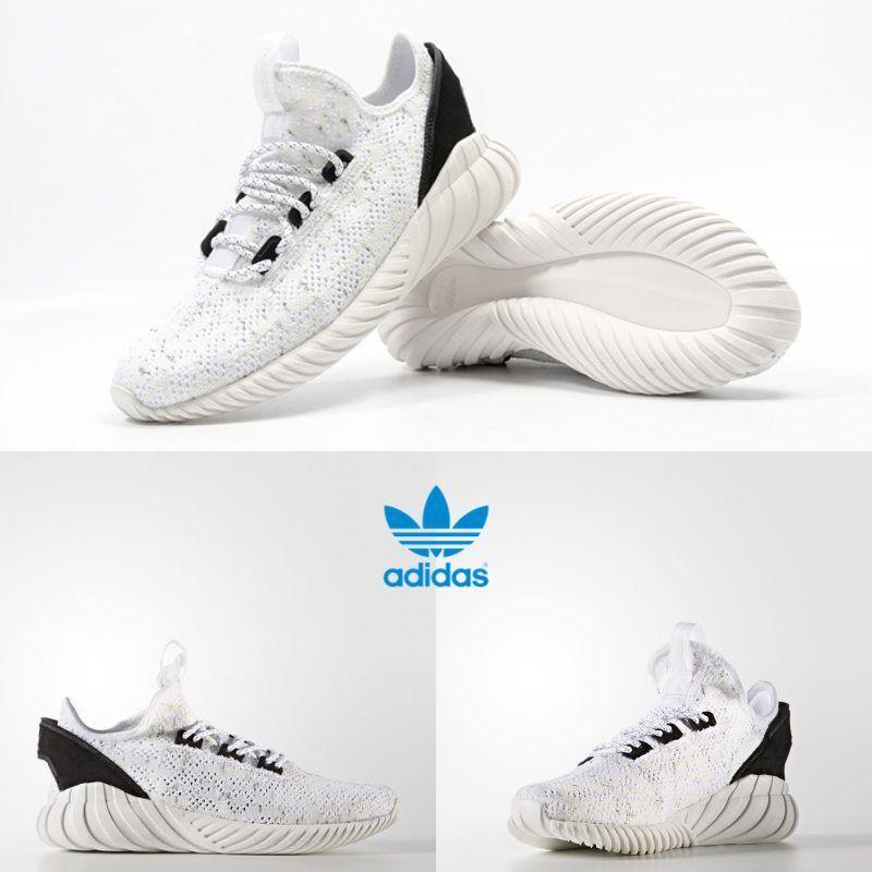 ce935399b524 Adidas Unisex Original Tubular Doom Sock Primeknit White BY3558 Size 4-11
