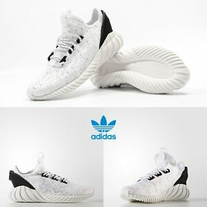 Image is loading Adidas-Unisex-Original-Tubular-Doom-Sock-Primeknit-White- b768aced96