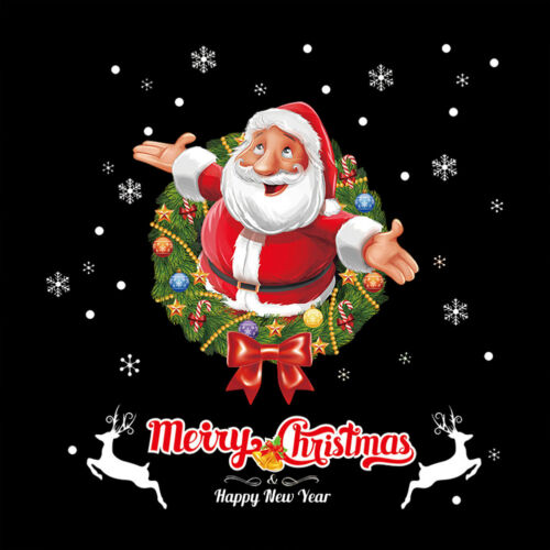 1PC Home Wall Christmas Santa Claus Glass Window Office Shop Xmas Stickers Decor