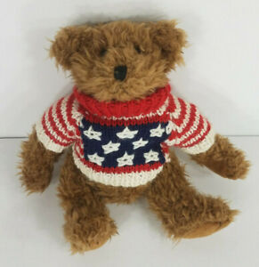 Nwt Vintage Ganz 9 In Baxter Bear W Cottage Collectibles American Flag Sweater Ebay