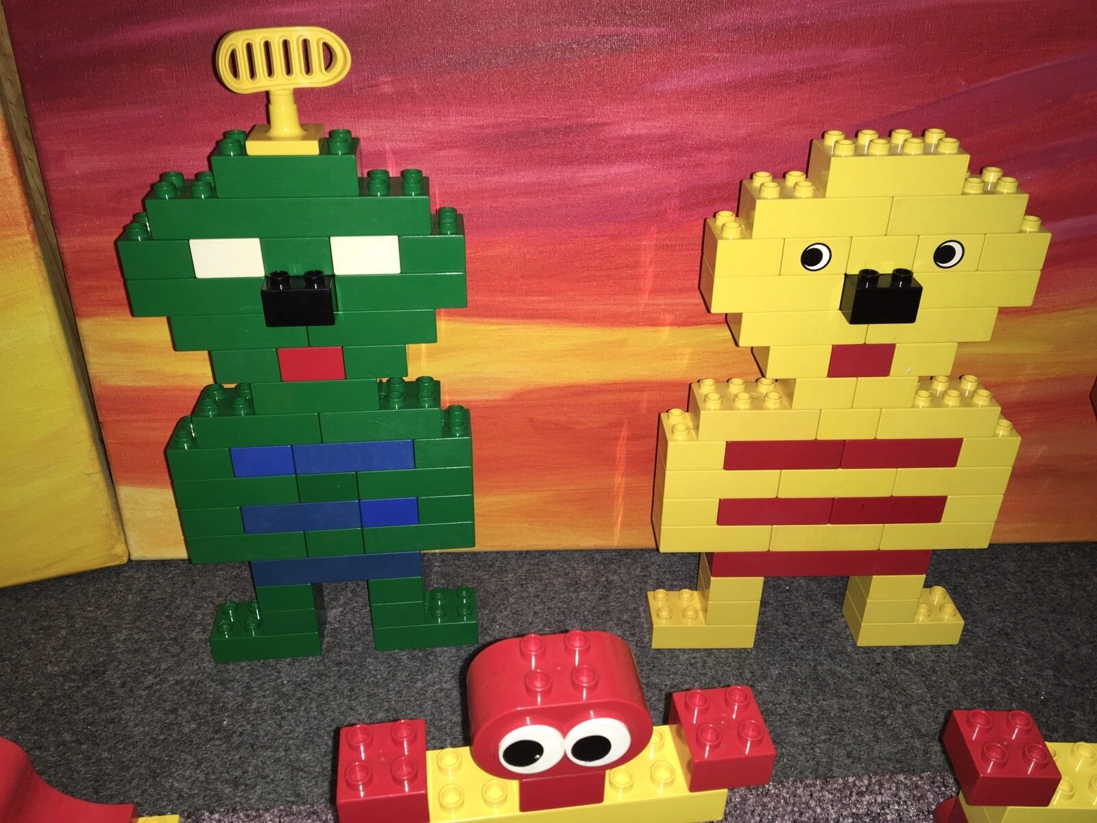 LEGO DUPLO Geschenk Bausteine, lustige Köpfe, Fahrzeuge + Geschenk DUPLO   s. Aufbaubeispiele d36c71