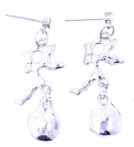 Cristal violeta plata hada pendientes de presión