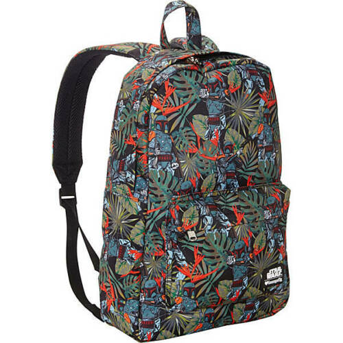 Loungefly Star Wars Boba Fett Bright Leaves Laptop Backpack Tote Bag