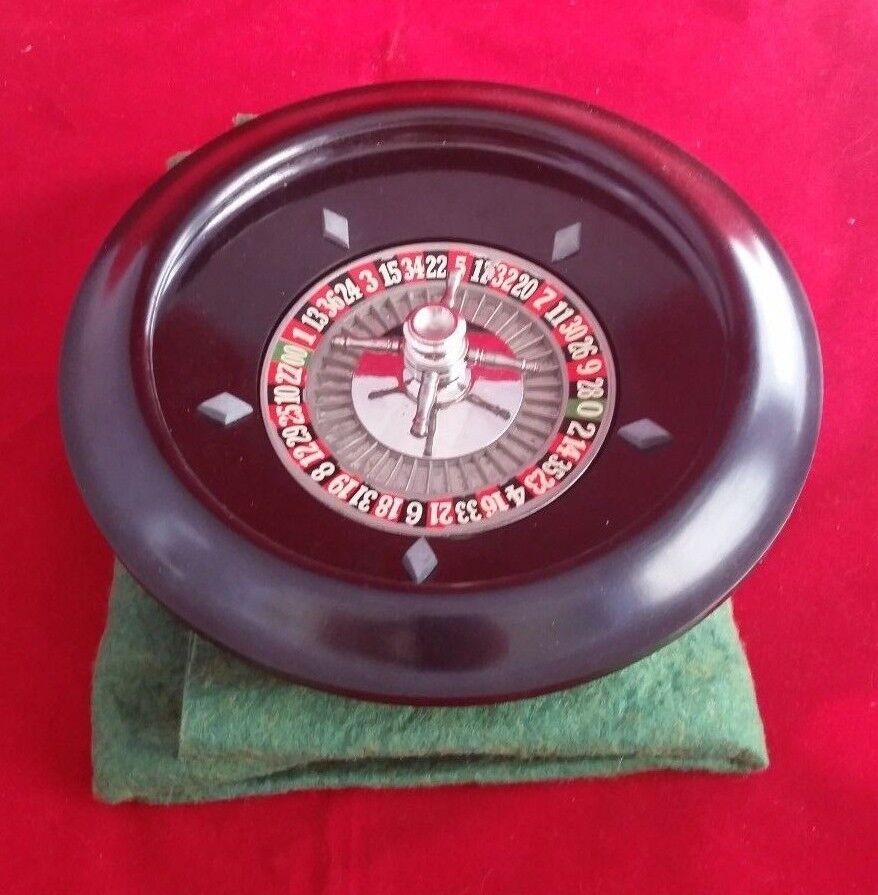 Vintage Antique Roulette Wheel - AP Games - In Original Box
