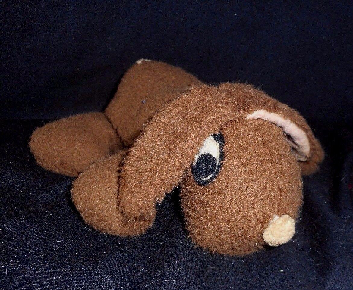 VINTAGE SHERMAN INDUSTRIES BEAN BOYS 3133 braun BUNNY STUFFED ANIMAL PLUSH TOY