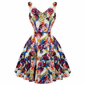 Hearts-amp-Roses-London-Floral-Princess-Retro-Vintage-1950s-Flared-Party-Tea-Dress