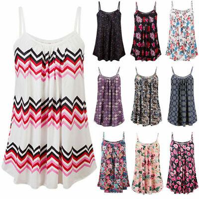 New Womens Ladies High Neck Cami Vest Swing Camisole Top Dress Plus Size UK 8-26