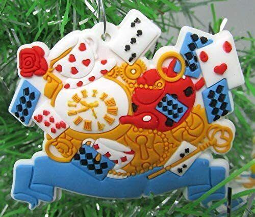 Disney/'s Alice in Wonderland Christmas Ornaments Set -Brand New