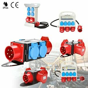 Stromverteiler-Adapter-Baustromverteiler-Kraftstrom-Starkstrom-Verteiler-CEE