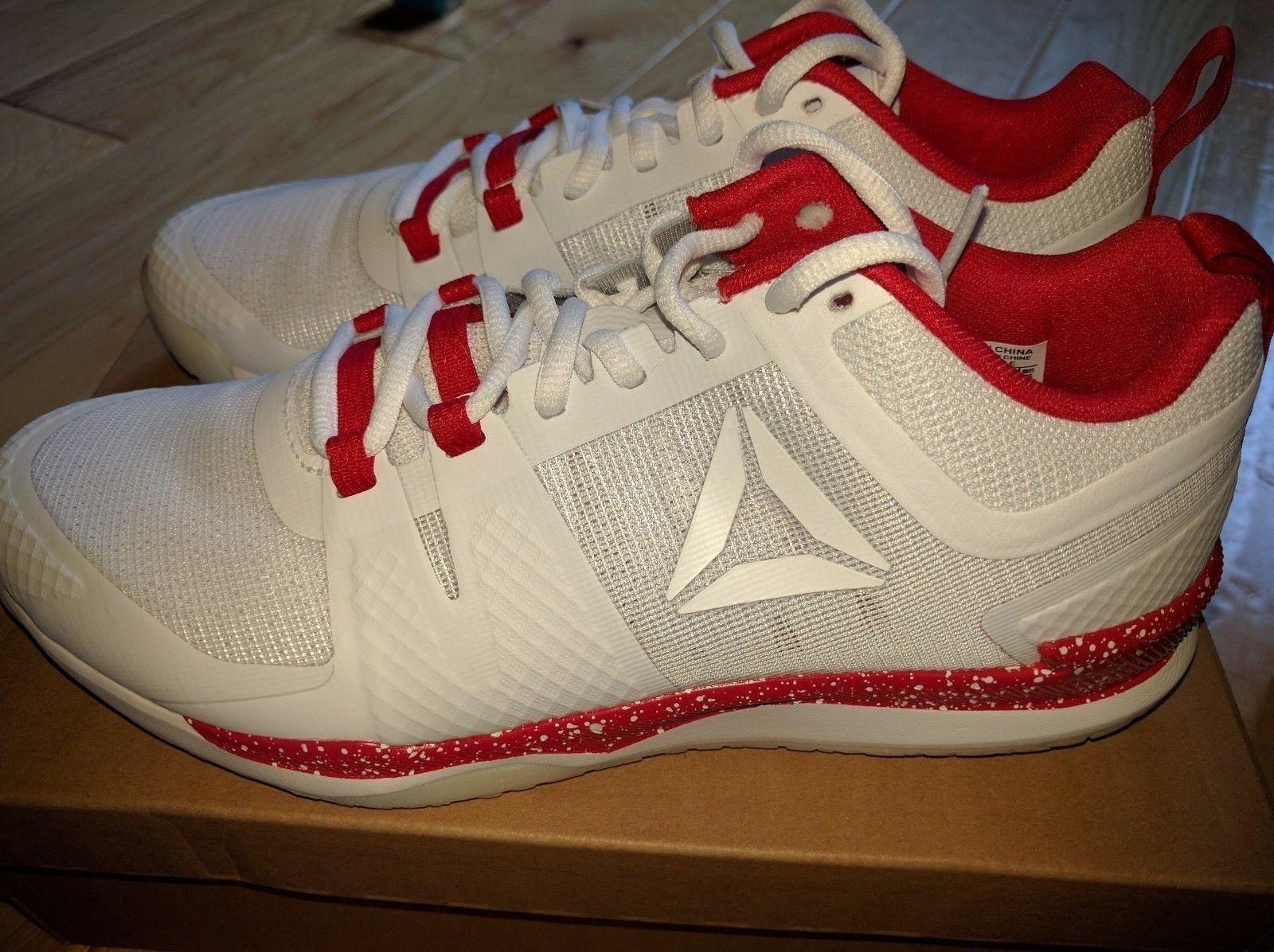 Reebok JJ Watt 1 Training Shoes White Red Skull Grey BD4837 Houston Texans NEW