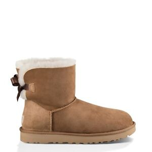 684afe406fd UGG Australia W Mini Bailey Bow II Shoes Women's BOOTS Brown 1016501 9