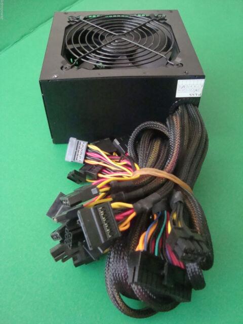 NEW 750W 700W 700 Watt LARGE QUIET FAN GRILL ATX Power Supply PCI-E SATA PSU