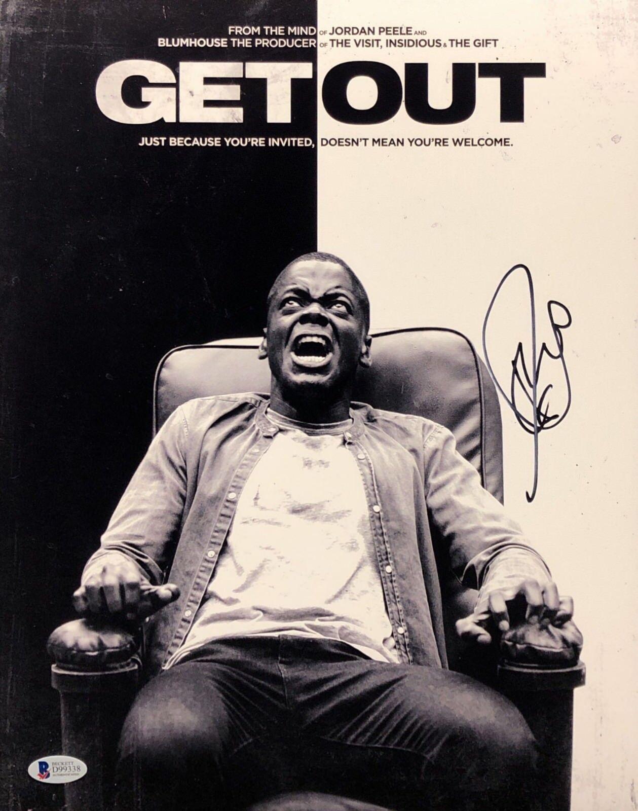 Daniel Kaluuya Signed 'Get Out' 11x14 Photo BAS Beckett D99338