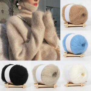 6ad2ef9312cd 1 Roll Crochet Soft Knitting Wool Mohair Yarn for Hat Sweater Crafts ...