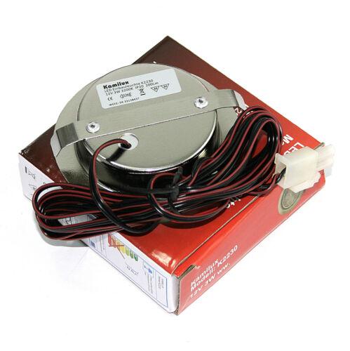 AMP Verteiler Trafo 1-10er Möbellampe 12V LED Mobi 3W = 30W Warmweiss inkl