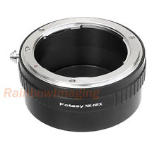 Nikon F Mount Lens to Sony E-Mount NEX Camera Adapter a6500 a6000 a5000 a63