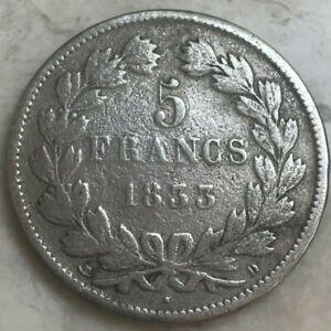 1833 D France 5 Francs - Environmental Damage