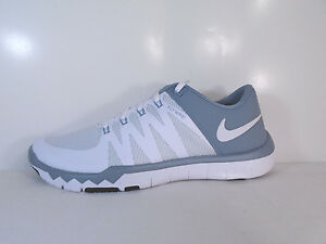 NIKE MENS FREE TRAINER 5.0 V6 White Dove Grey-Platinum -719922 110 ... aa72d67dfa82