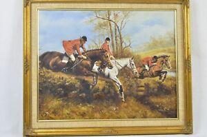 "D. Long ""The Hunt"" Original Oil Painting"