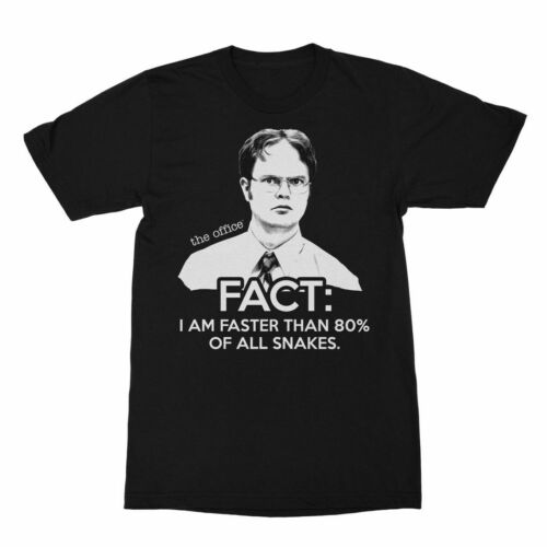 The Office Dwight Faster Than Snakes Black Adult T-Shirt