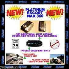 ESCORT MAX 360 MAX360 RADAR DETECTOR  BT, GPS, AND PRELOADED CAMERA DATABASE