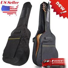 """2019 41"""" Dual Adjustable Shoulder Strap Acoustic Guitar Soft Case Cover Gig Bag"""