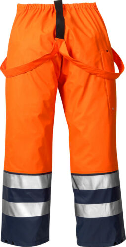 orange//marine Fristads Kansas 111376-271 High Vis Regenhose 2625 M Gr XL