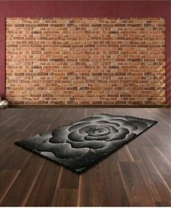 BLACK-HAND-CARVED-RUG-ROSE-75CM-X-150CM