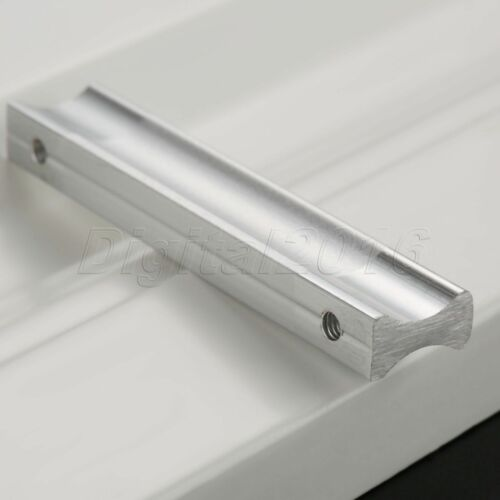 Matte Silver Furniture Door Pull Handles Wardrobe Drawer Cabinet Knobs Hardware